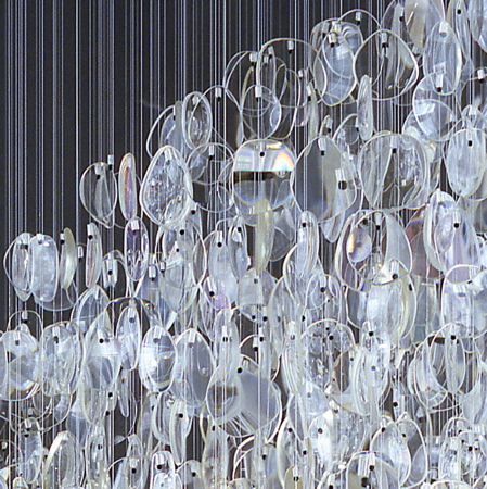Optical Chandelier by Stuart Haygarth « fabulously green :  lighting re-purposed recycled materials salvage